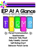 IEP At A Glance  *Developing Objective and Measurable Goals