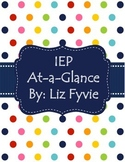 IEP At-a-Glance
