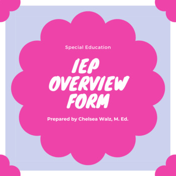IEP Overview Form