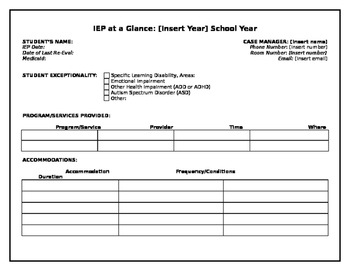 year at a glance template teaching resources teachers pay teachers