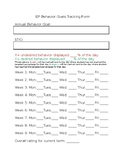 IEP Behavior Goal Tracking Form