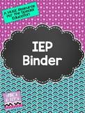 IEP Binder - Chalkboard & Herringbone