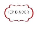 IEP Binder Cover
