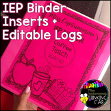 IEP Binder Inserts + Editable Logs