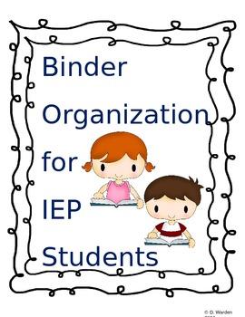IEP Binder Organization
