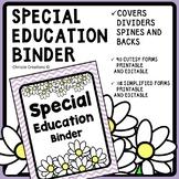 IEP Binder [Special Education Binder] IEP case managment binder forms chevron
