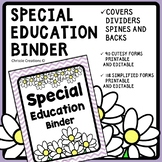 IEP Binder [Special Education Binder] IEP case managment binder forms chevron