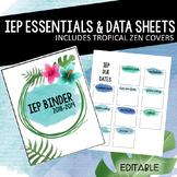 IEP Binder and Data Sheets- Tropical Zen Version