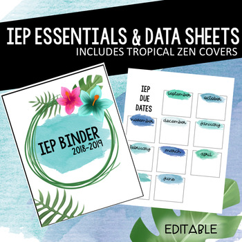 IEP Binder and Data Sheets- Tropical Zen Version