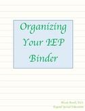 IEP Binder for Parents