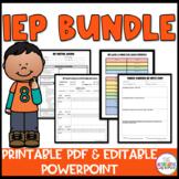 IEP Bundle: Distance Learning Compatible