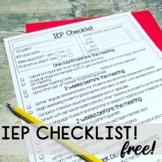 IEP CHECKLIST - FREE