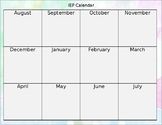 IEP Calendar