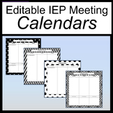 IEP Calendar Editable [IEP Meeting Calendar][IEP Calendar