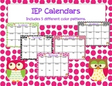 IEP Calendar in Owls & Chevron