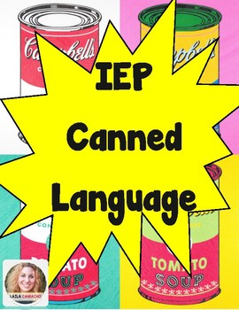 IEP Canned Language