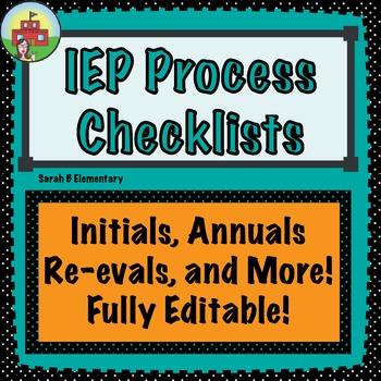 IEP Checklists-Fully Editable