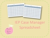 IEP Case Manager Spreadsheet
