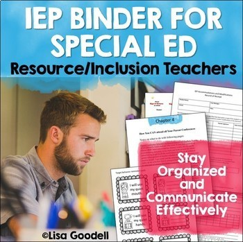 IEP Case Manager Time Saving Tools for Special Education - Editable