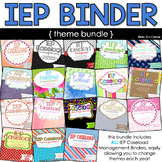 IEP Caseload Binder for Special Ed - Bundle of 18 Themes