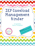 IEP Caseload Management Binder- Editable!