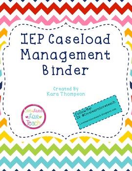 IEP Caseload Management Binder- Editable!