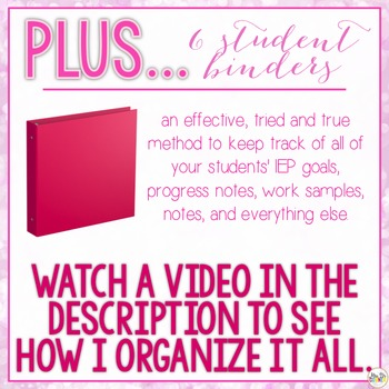 The Ultimate Special Education Binder - Pink Bokeh {editable} IEP Binder