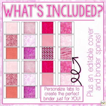 The Ultimate Special Education Binder - Pink Bokeh {editable} IEP Binder