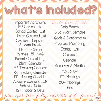The Ultimate Special Education Binder - Chevron {editable} IEP Binder