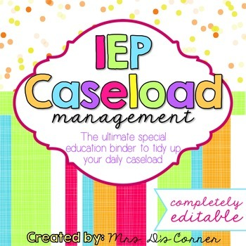 The Ultimate Special Education Binder - Confetti Brights {