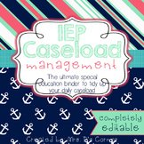 The Ultimate Special Education Binder - Pink Aqua Nautical {editable} IEP Binder