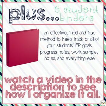 The Ultimate Special Education Binder - Pink Aqua Nautical {editable} IEP Binder