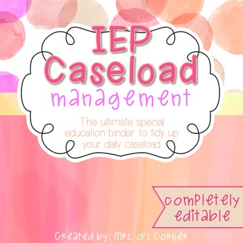 The Ultimate Special Education Binder - Pink Watercolor {editable} IEP Binder
