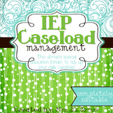 The Ultimate Special Education Binder - Teal Mosaic {editable} IEP Binder