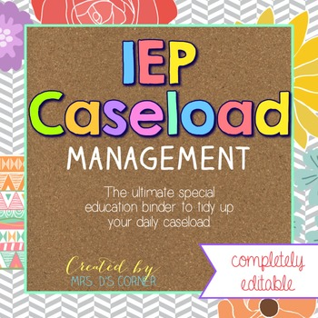 The Ultimate Special Education Binder - Tribal Herringbone {editable} IEP Binder