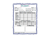 IEP Caseload Snapshot With Related Services: EDITABLE