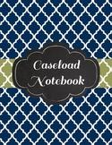 IEP Caseload Special Education Binder in Sage and Navy quatrefoil