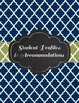 IEP Caseload Special Education Binder in Sage and Navy quatrefoil