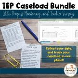 IEP Caseload Tracking, Progress Monitoring, Teacher Survey Bundle