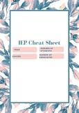 IEP Cheat Sheet
