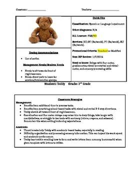 IEP Cheat Sheet (IEP Summary and Goals)