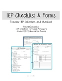 IEP Checklist & Forms for Case Managers