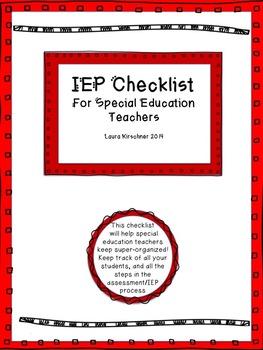 IEP Checklist/Special Education
