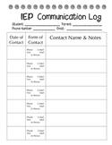 IEP Communication Log
