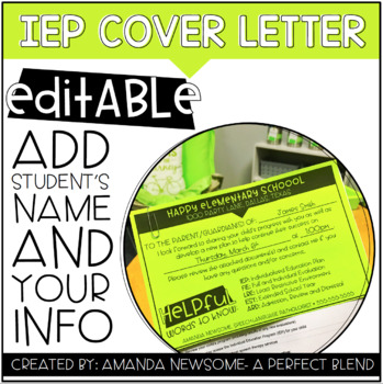 IEP Cover Letter
