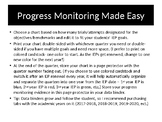IEP Data Binder/ Progress Monitoring Tracking