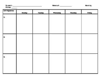 IEP Data Chart (Weekly)