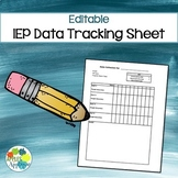 Editable IEP Data Collection Sheet