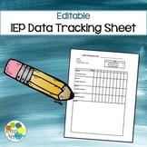 Editable IEP Data Tracking Sheet