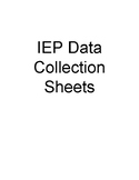 IEP Data Collection Sheets